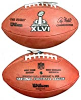 Wilson F1007-46 Official Super Bowl 46 Game Football - New York Giants vs. New England Patriots