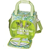 Picnic Plus Bailey 2 Person Picnic Tote Green Paisley