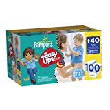 Pampers Easy Ups Boy Trainers Value Pack Size 4 S2T/3T 100 Count