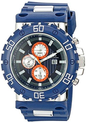 Joshua & Sons Reloj Pantalla analógica cuarzo suizo Azul para Hombre