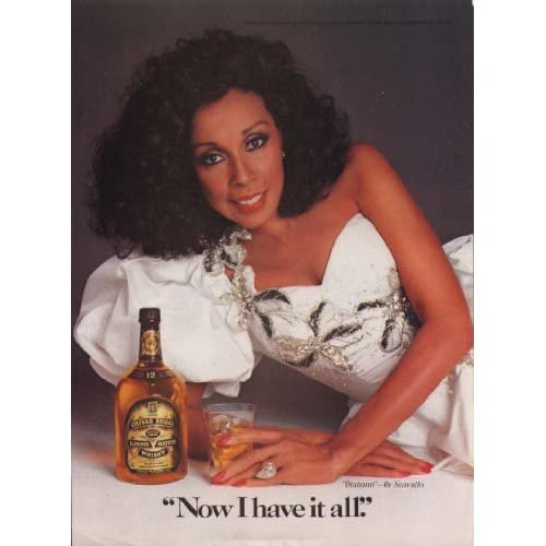 Diahann Carroll for Chivas Regal Scotch Whisky ad 1986 at Amazon's