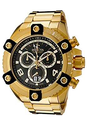 Invicta Men's 0340 Arsenal Reserve Chronograph Gold Tone Watch