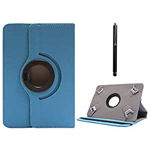 DMG Protective Flip Book Cover Stand View Case for Samsung Galaxy Tab 3 T211 7in Tablet(Blue) (Blue) + Capacitive Touch Screen Stylus