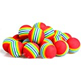 20Pcs/Pack Rainbow Stripe FOAM Sponge Golf Balls Swing Practice Training Aids