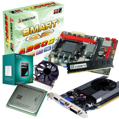 tronics24 PC Aufrüstkit | AMD Athlon II X2 250 2x 3.0GHz Dual-Core | Nvidia GeForce GT630 4GB