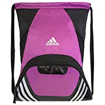 adidas Team Speed II Sackpack, Intense Pink, 19 x 14.75 x 2-Inch