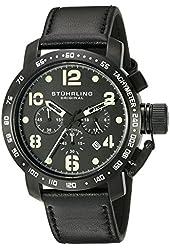 Stuhrling Original Men's 641.03 Monaco Analog Display Quartz Black Watch
