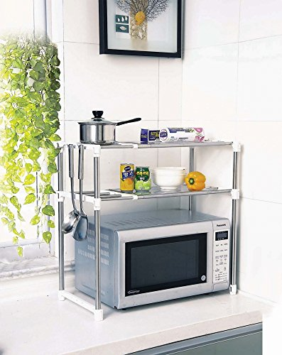 New Aojia Microwave Oven Rack Kitchen Shelves 8204-2white