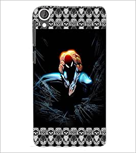 PrintDhaba Spider Man D-5695 Back Case Cover for HTC DESIRE 820 (Multi-Coloured)