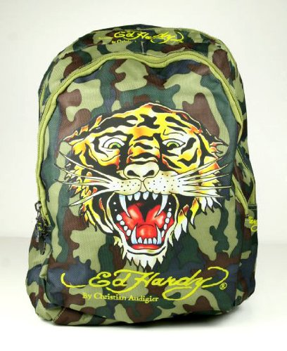 Ed Hardy Tiger Camouflage Backpack – Boys Small