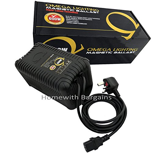 Omega 600w Pro Magnetic Ballast Solid Resin, Grow Room Hydroponics