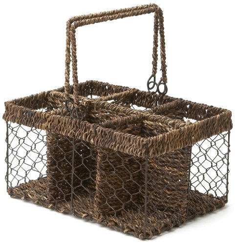 Woodard & Charles Abaca 6-Division Outdoor Caddy, 12-Inch