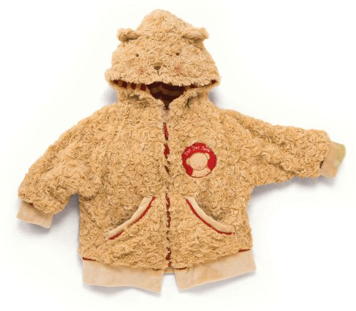 Bunnies by the Bay Bao Bao Bear Coat, Tan/Red, 3-6 Months (Discontinued by Manufacturer)