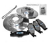 2x Brake Discs Solid Ø285mm + Brake Pads Rear Axle MERCEDES-BENZ M CLASS W163 ML 230,ML 270 CDI,ML 320,ML 430 98-05