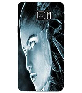 SAMSUNG GALAXY NOTE 5 ANGRY GIRL Back Cover by PRINTSWAG