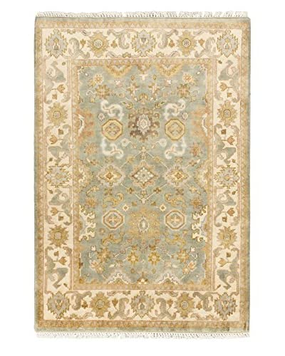 Hand-Knotted Royal Ushak Wool Rug, Gray, 4' x 5' 11