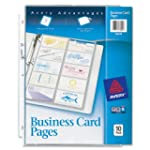 Avery  Business Card Pages, Pack of 1...