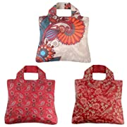 Envirosax Red Reusable Shopping Bags, Set of 3