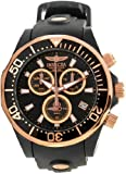 Invicta Mens Pro Grand Diver Swiss Chronograph Rose Gold & Black IP Case Rubber Watch 12399