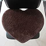 DGI MART Nonslip Back Design Polyester Fiber Sweet Heart Shape Rugs Carpets Mats for Bedroom Sitting Room Study Kitchen Dining Room Nursery Kid's Room Decor Home Decorations 40cm*50cm - Coffee