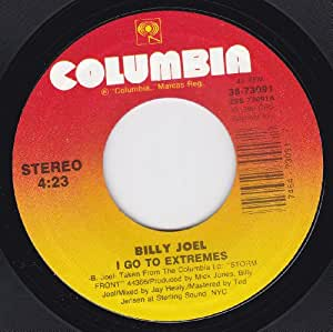 Billy Joel I Go To Extremes When In Rome Vg 45 Rpm