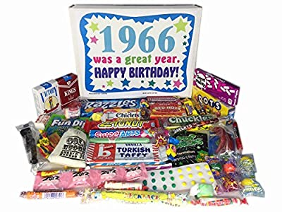 50th Birthday Gift Basket Box 1966 Retro Nostalgic Candy '60s Decade