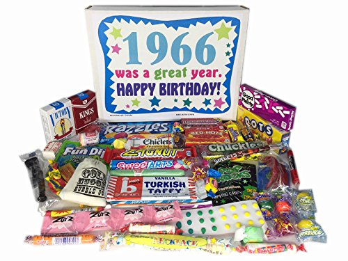 '60s Retro Candy Decade 50th Birthday Gift Box Nostalgic Candy 1966