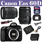 Canon EOS 60D SLR (Black) with Kit II EF S18-135mm Lens