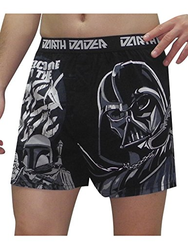Mens STAR WARS (DARK SIDE) Functional Open Fly Boxer Shorts / Underwear S Black