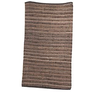 Ian Snow Striped Soft Jute Rug, Grey by Ian Snow