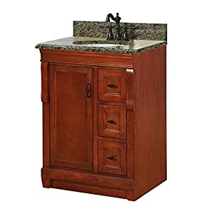 Foremost nacaqu2522d naples 25 inch width x 22 inch depth vanity with right drawers and granite 22 inch wide bathroom vanity with sink