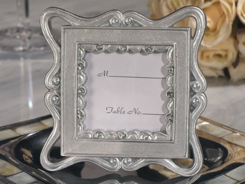 Wedding Favors Classically Styled Silver Place Card Frame Favor