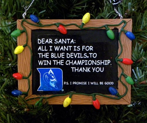 Duke Blue Devils NCAA Chalkboard Holiday Christmas Ornament at Amazon.com
