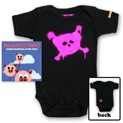 Rockabye Baby! Lullaby Renditions of Pink Floyd + Rockabye Baby 100% Organic Cotton Onesie (Pink)