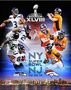 Denver Broncos Seattle Seahawks 2014 Super Bowl XLVIII Match Up Photo (Size: 20 x 24) by NFL