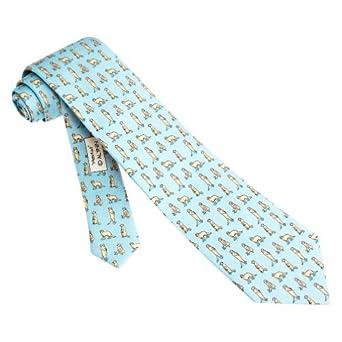 Light Blue Silk Tie | Meerkat Necktie