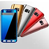 Samsung Galaxy S7 Edge Case, Mixneer Luxury Ultra Thin Bling Mirror 360 Full Protection Phone Cover for Samsung Galaxy S7 Edge - Blue
