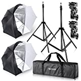 Neewer® Studio Digital Flash Mount Two Removable Black Cover Umbrella Kit 33