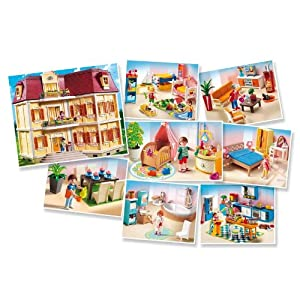 Playmobil 5302 5329 5335 the grande mansion complete for Playmobil esszimmer 5335