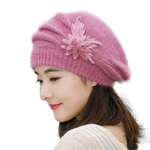 hut-winwintomr-womens-flower-knit-crochet-beanie-hut-winter-warm-mutze-baskenmutze-lila