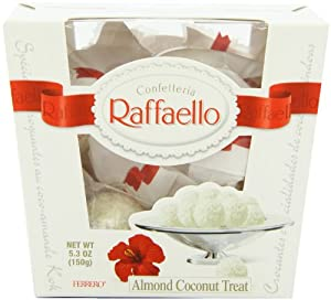Raffaello Almond Coconut Candy, 15 Pieces (Pack of 6)