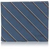 Billetera Tommy Hilfiger School Boy para hombre, con rayas dobles, color cobalto, tamaño único.