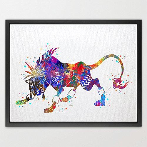 dignovel-studios-rojo-xiii-de-final-fantasy-vii-watercolor-impresion-ilustraciones-fan-art-giclee-de