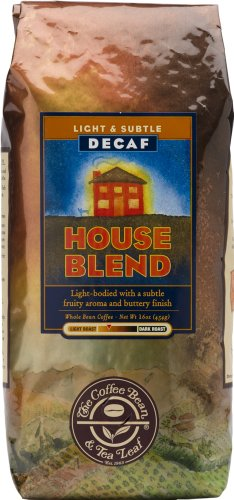 The Coffee Bean & Tea Leaf, Hand-Roasted Decaf House Blend, Medium Roast, Ground Coffee, 12-Ounce Bags (Pack Of 2)