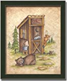 Still Waiting Outhouse Art Print Picture Framed 8x10