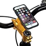 "Tigra® MountCase II iPhone 6+ Plus/ 6S+ Plus (5.5"") Waterproof Shock-Absorbent Ultra Slim Case and Bike Mount Kit with RainGuard"