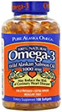 Pure Alaska Omega-3 Wild Alaskan Salmon Oil 1000mg Softgels 180-Count