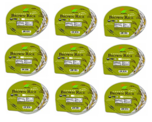 Minsley 100% Organic Cooked Brown Rice Bowls Microwavable Shelf Stable With Vegan, Gluten Free, No Preservatives, No Cholesterol, And Usda Organic Certified- 9 Pack Of 7.4 Oz Bowls