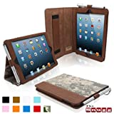 Snugg iPad Mini Case - Leather Case Cover and Flip Stand with Elastic Hand Strap and Premium Nubuck Fibre Interior (Digital Camo) - Automatically Wakes and Puts the iPad Mini to Sleep. Superior Quality Design as Featured in GQ Magazine