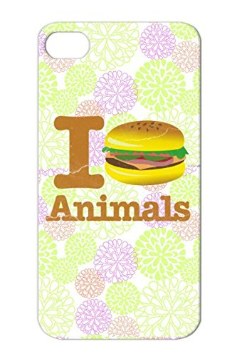 Durable Tpu Funny Tailgating Meat Love I Rights Animal Satire Food Carnivore Wildlife Tailgate Vegan Football Vegetarian Humor Peta Animals Health Bacon Funny Beef Eat Candy Hamburger Bbq Protective Hard Case For Iphone 4 Bronze I Eat Animals Hamburger